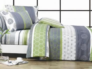 Artistic 100% Cotton Quilt Cover Set in Queen ($49) or King ($59)