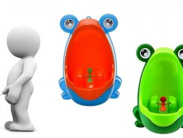 $19 for a Boy's Toilet Training Frog Urinal in Green or Blue
