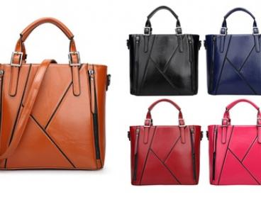 $39 Vintage PU Leather Tote Handbag, Available in Five Colours