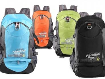$24 for an Aeroline 35L Water-Resistant Ergonomic Backpack in Choice of Colour