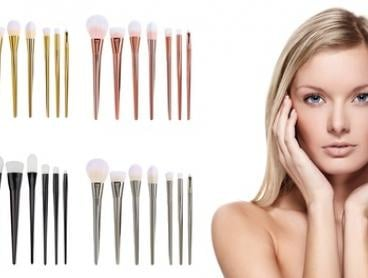 Seven-Piece Pro Cosmetic Brush Set: One ($16) or Two ($26)
