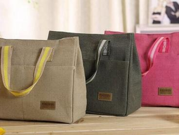 $12 Canvas Lunch Bag in a Choice of Colours