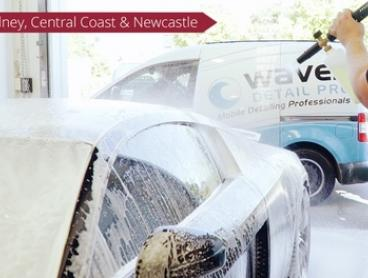 $75 for In and Out Mobile Car Detailing, Spray Wax, and Snow Foam with Waves DETAIL PRO Australia (Up to $135 Value)