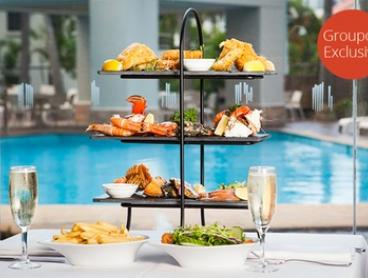 Three-Tier Seafood Platter + Sparkling Wine for Two ($59) or Four People ($115) at Relish Grill & Bar (Up to $198 Value)