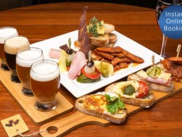 Gastro Pub Meal with Craft Beer for One ($19), Two ($35), or Eight People ($125) at The Malty Grain (Up to $240 Value)