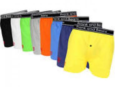 8 x Mixed Colour Pack Frank and Beans Mens Underwear Boxer Shorts S M L XL XXL
