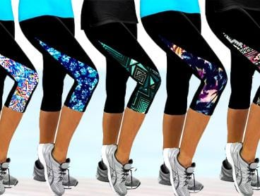 Combine Sport with Style This Summer with These Stylish 3/4 Length Sports Leggings! Perfect for Your Cardio or Flexibility Training Sessions. Only $15