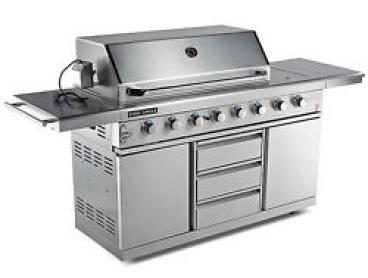 NEW Euro-Grille 8 Burner BBQ Outdoor Barbeque Gas- 100% Stainless Steel Kitchen