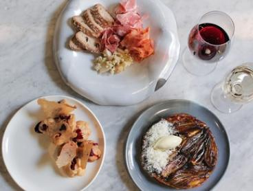 Three Sharing Plates & Drinks for Two ($39) or Four People ($75) at Cellar Bar at Bouche On Bridge,CBD(Up to $182 Value)