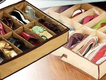 Keep Your Shoes Organised and Tidy With This Convenient Under Bed Shoe Storage Box! Saves Space and Protects Shoes From Dust. Only $9 with Delivery Included!