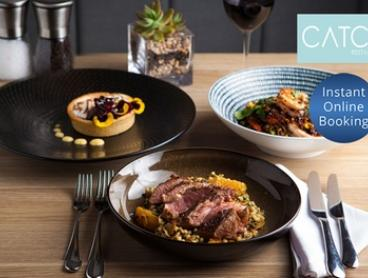 Two ($79) or Three-Course Gourmet Meal ($99) with Wine and Parking for Two People at Catch Restaurant (Up to $159 Value)
