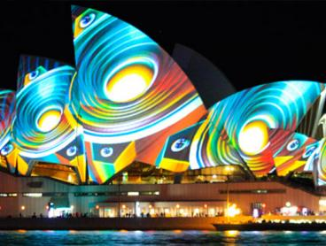 Harbour Cruise for Sydney's Vivid Light Festival with Delicious Standing Buffet and Glass of Wine on Arrival. Prices Start from $39 per Person (Value $90)