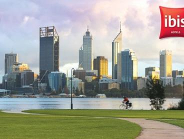 Ibis Perth, CBD: From $119 for a Urban Getaway for Two People with Bottle of Wine and Late Checkout