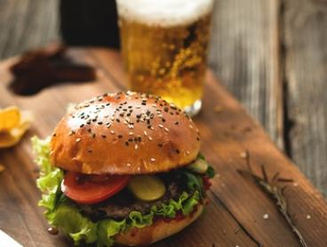 Burger and Beer for Two ($17) or Four ($33) People at Cafe Briz (Up to $75.6 Value)