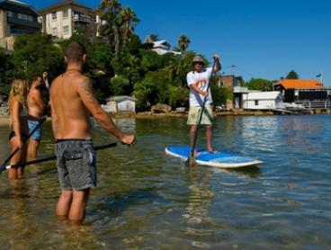 Stand-Up Paddleboarding Lesson for One ($35) or Three ($104) with Bondi Standup Paddleboard School (Up to $120 Value)