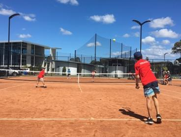 Tennis Court Hire: One Month ($9) or Two Hours for Two ($24) or Four ($45) at KDV Sport (Up to $110 Value)
