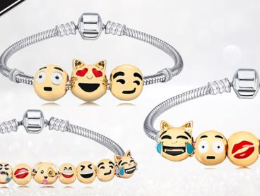 Express Yourself with an Emoticon Charm Bracelet! These Bracelets Feature Your Favourite Emoticons Like Smiley Face, Tongue Face, Heart Eyes and More. Get Three Charms for $12, Five Charms for $17 or Ten Charms for $22 with Delivery Included