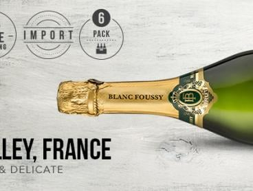 Celebrate in Style with This Delightful Half Dozen Case of Blanc Foussy Brut Sparkling NV. Only $89 with Delivery Included (Valued at $132)