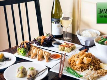 Two-Course Thai Meal with Drinks for Two ($25), Four ($49) or Six ($65) at Imm Aun Thai Restaurant (Up to $148.50 Value)
