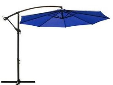NEW 3m Outdoor Umbrella CRAIG Navy Blue Patio Cantilever Garden Deck Shade
