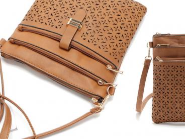 Always Look Your Best with An Eye-Catching Vegan Leather Three-Zip Cross-Body Bag. With Enough Space for All Your Everyday Necessities, This Bag is Perfect for Any Outfit or Occasion. Only $19