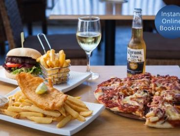 Pizza, Burger or Fish and Chip Meal with a Drink Each for One ($10) or Two People ($19) at GMC Diner At The Shore
