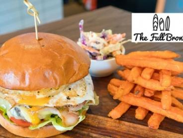 Burger or Pizza with Wine or Beer for One ($15), Two ($29) or Four ($55) at The Full Bronte (Up to $104 Value)