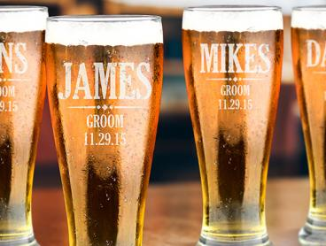 Personalised Premium Schooner Beer Glass from $11.99 for a 285ml Glass, or $15 for a 425ml Glass (Valued Up To $119.97)
