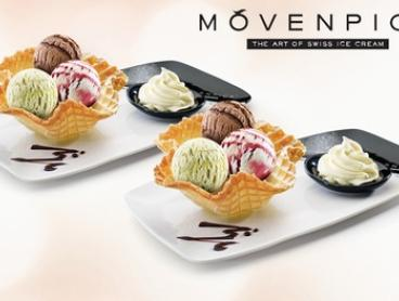 $12.95 for Two Ice Cream Tasting Baskets at Mövenpick, Indooroopilly (Up to $25.90 Value)