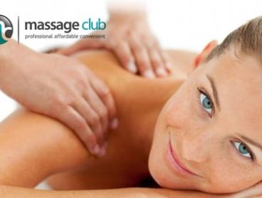 $59 for 1-hour Relaxation Massage + FREE Upgrade and No Joining Fee at Massage Club, Two Locations (Up to $175 Value)