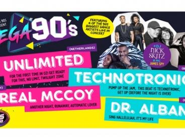 Mega 90's Entry Ticket, 17 - 25 March at Choice of Locations (Up to $79.90 Value)