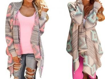 Aztec Runway Cardigan: One ($19) or Two ($29)