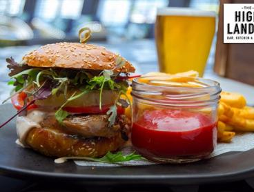 Burger with Fries & Beer or Wine