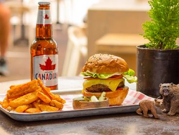 Gourmet Burger and Chips Lunch with Beer, Wine or Soft Drink in Manly - Just $29 for Two People or $56 for Four (Valued Up To $122)