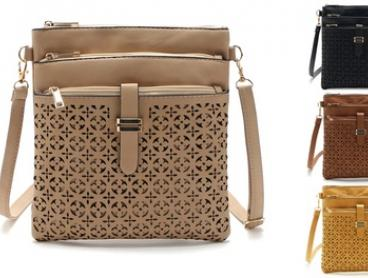 Three-Zip Cross-Body Handbag: One ($19) or Two ($35) (Don't Pay up to $119.90)