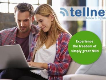 NBN or ADSL2+ Broadband: 20% Off 12 Months ($2) or 30% Off 3 and 6 Months ($3) from Tellnet