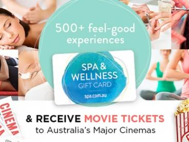 Spa & Wellness Gift Card with Movie Tickets from $25 (Up to $184 Value)
