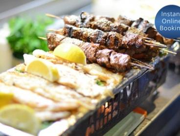 Turkish Metre-Long Mixed Grill and Wine for Two ($49) or Four ($95) at Achelya, Docklands (Up to $180 Value)