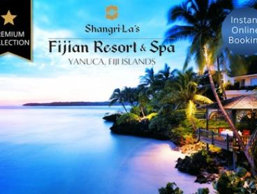 Fiji: Up to 10 Nights for Up to Four People with Breakfast and Extras at 5* Shangri-La's Fijian Resort & Spa