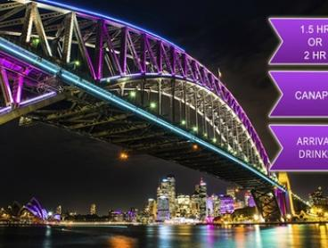 From $25 for a Vivid Cruise with Canapes and Drinks with Afloat Cruises International, Sydney Harbour (From $69 Value)