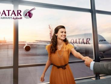 Pay up to $4 to get up to 20% off on flights with Qatar Airways