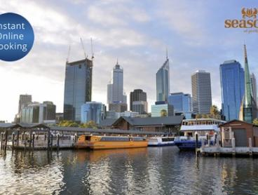 Perth City: 1 or 2 Night CBD stay for Two People with Late Check Out and parking at Seasons of Perth