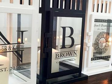 Brighten Up Your Home With a Large Personalised Lantern for Just $29. Available in Black or White (Value $66.09)