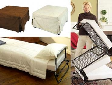 From $129 for a Folding Ottoman Single Sofa Bed with Choice of Three Slip Cover Colours