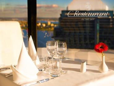 Award-Winning Revolving C Restaurant - Lunch with Wine for Two ($49), Four ($95) or Six People ($143) (Up to $288 Value)