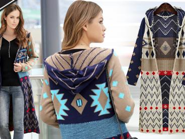 Warm Up in Style This Winter! This Tribal Knit Cardigan is a Great Addition to Your Wardrobe and is as Chic as it is Cosy and Comfortable. Only $39 with Delivery Included