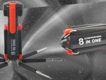 Simplify Your Toolbox with This Multipurpose Screwdriver with Eight Screwdriver Heads! Includes LED Flashlight So You Can Work in The Dark or Hard to Reach Places. Only $14 with Delivery Included