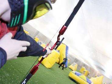 1-Hour Archery Tag for 1 ($20), 2 ($39), 10 ($169) or 16 People ($249) at Gold Coast Indoor Paintball (Up to $560 Value)