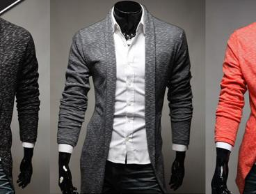 Gentlemen, Prep Your Closets for Winter with This Men's Open Long Cardigan! This Knitted Cardigan Features a Long Sleeve and Open Front. Only $29 with Delivery Included