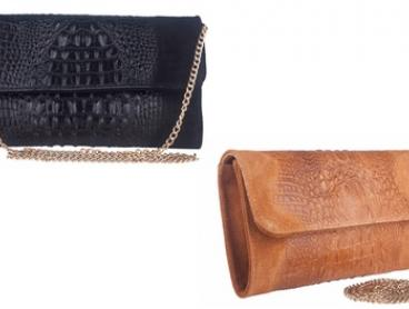 Marla Fiji Italian Leather Croc-Inspired Clutch Bag ($119) or Unisex Messenger Bag ($134) (Don't Pay up to $299)